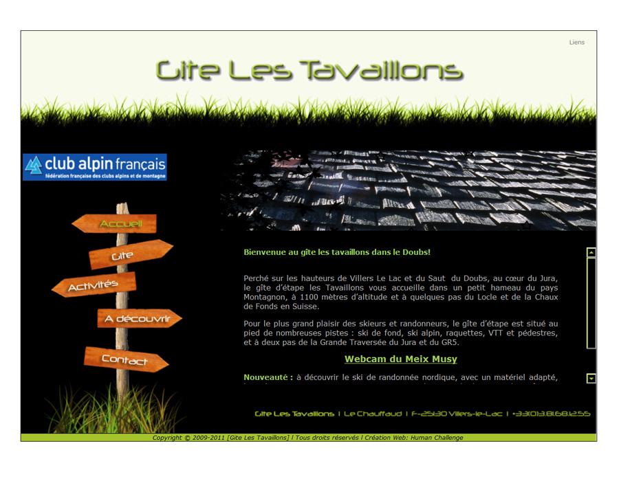Cartes De Visite Gte Les Tavaillons